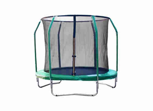 round trampoline with safety net