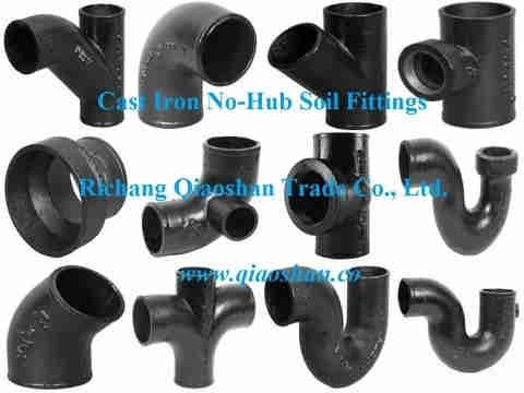 "1 1/2""- 15"" CISPI 301 ASTM A888 No-Hub Cast Iron Soil Fittings for Sanitary and Storm Drai"