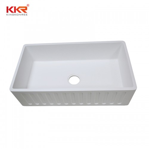 KKR Modern Design Stone Resin Basin Wall Mounted Acrylic Solid Surface Wash Basin