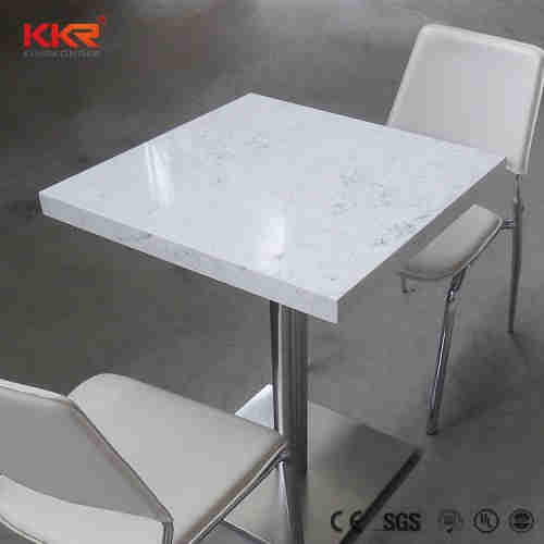 Custom artificial marble acrylic solid surface cafeteria dining table and chair