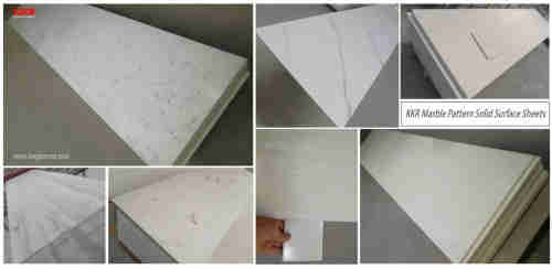 Free Sample Surface Solid Artificial Stone Modified Texture Acrylic Solid Surface Sheets