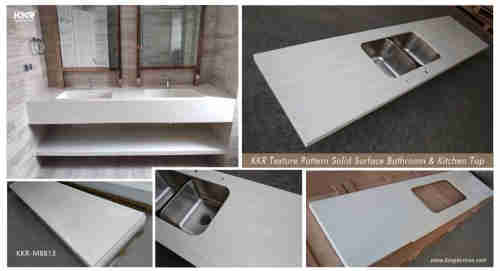Integrated cultured marble sink/hospital washing sink
