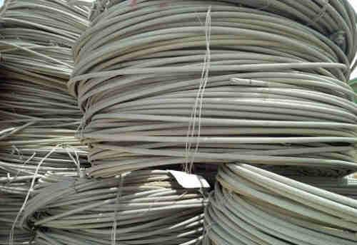 Aluminum wire scrap.