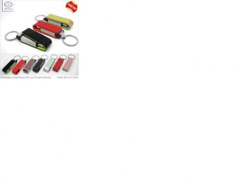 Bootable Executive Leather USB Flash Drive With Shiny Metal Cover
