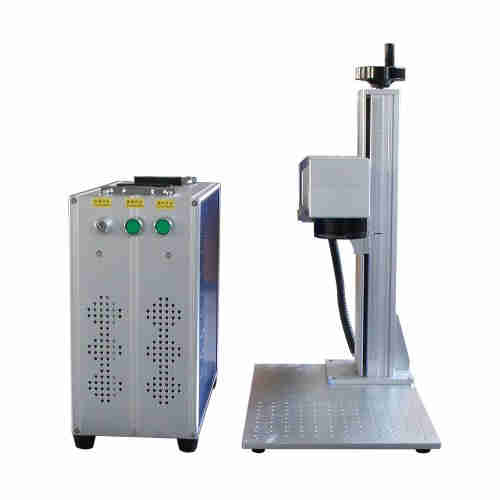 Raycus 20W 30W 50W fiber laser marking machine used for metal steel aluminum gold silver brass phone