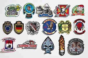 Embroidered Badges with Cutting Border