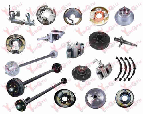 High quality trailer parts, axles, brakes, drums and hubs