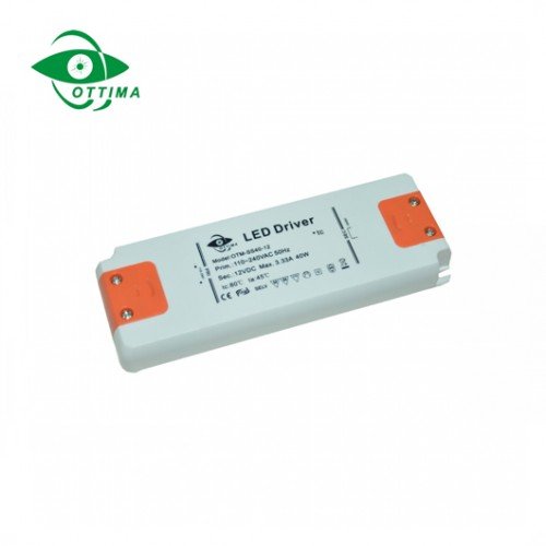 12v 50w ultra thin slim led driver constant voltage  constant current led driver supplier