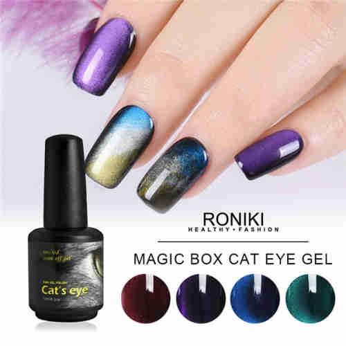 RONIKI Magic Box Cat Eye Gel Polish,Cat Eye Gel,3D Cat Eye Nail Gel Polish
