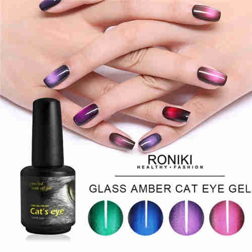 RONIKI Amber Cat Eye Gel Polish,Cat Eye Gel,Led Cat Eye Gel,Cat Eye Gel Wholesaler