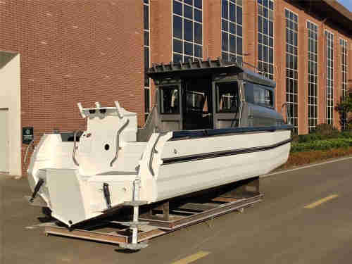 new design 7.5m 24.6ft aluminum full cabin fishing boat for sale