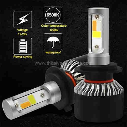2 three color dimming explosion flashed automobile LED headlamp refitted LED lamp fog lamp H4 H7