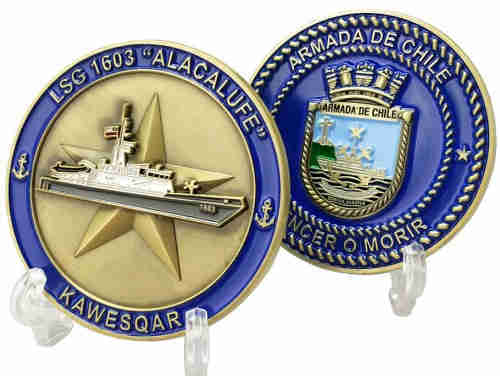 Custom Metal Chilean Navy Challenge Coins