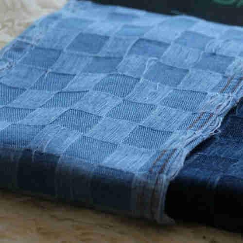 Check Pattern Denim Fabric  Indigo Denim Fabric price  Denim Fashion Fabric Companies