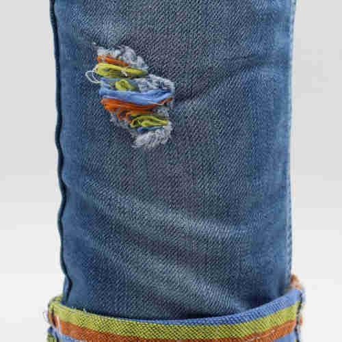 Rainbow stretch denim fabric  custom Color Denim Fabric  Color Denim Fabric price