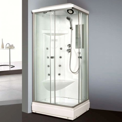White ABS Wall Material Shower Cabin-LX-2032