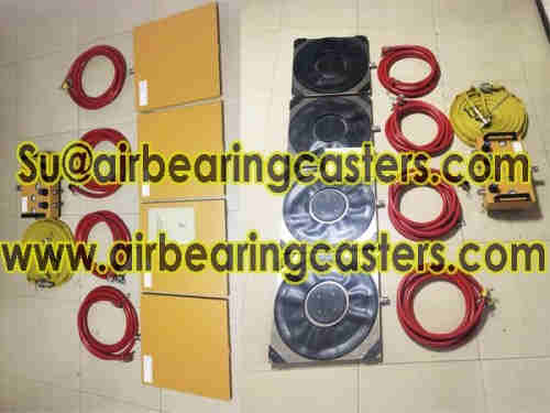 Air bearing and casters details with manual instruction