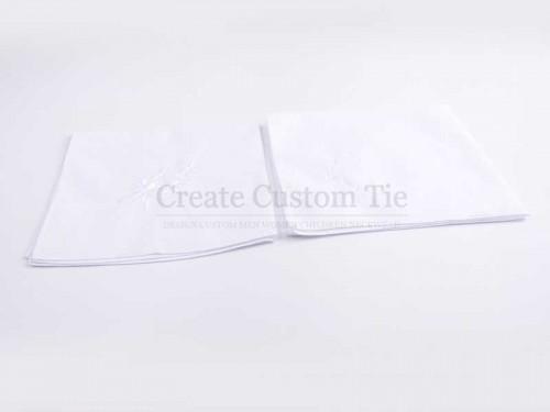 Custom Linen Print Pocket Squares   custom embroidery pocket square