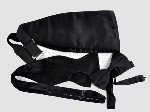 Custom poly black cummerbunds   Custom Cummerbunds manufacturer