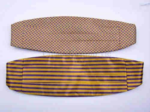 Custom microfiber woven cummerbunds