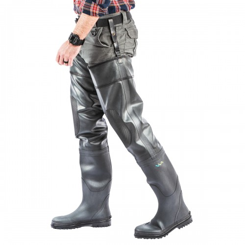 Multi-layer rubber hip waders
