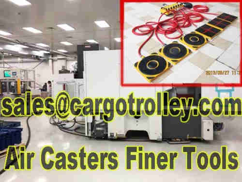 Air bearings transporters are moving tools