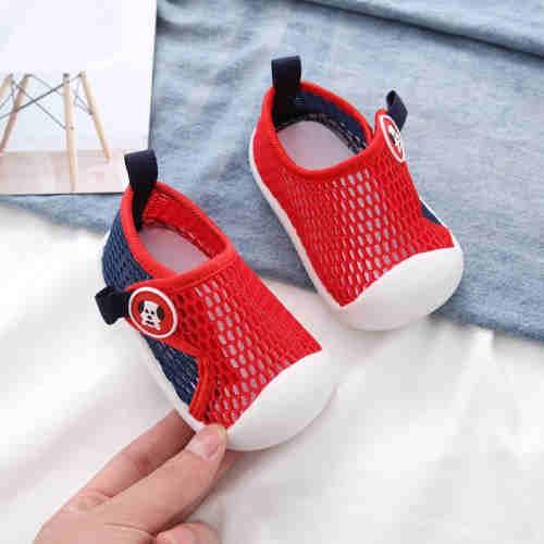 QUEQUN soft sole breathable hollow single mesh shoes Toddler shoes Children's shoes