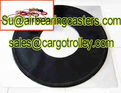 Air casters will no damage to the floor in our life