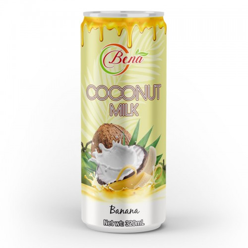 Natural Coconut Milk Mango Drink 320ml Cans from BENA beverage companies