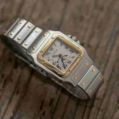 Luxurious Cartier Santos wrist watch