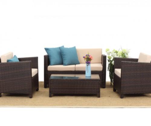 4 PCS PE Rattan Outdoor Living Sofa Set Best Seller