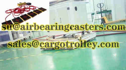 Air bearing casters rigging any loads with the best easy way