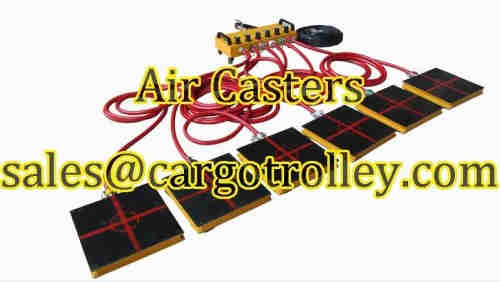 Air casters know as air bearings