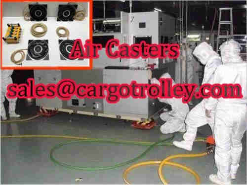 Air casters machine handling equipment