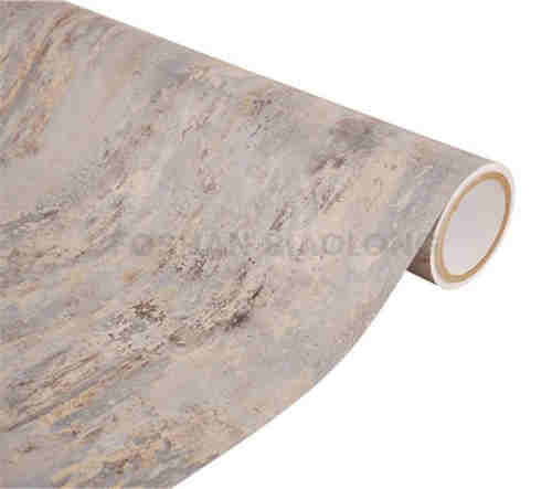 Opaque Waterproof High Gloss Marble Pattern PVC Vinyl Film for Wrapping Aluminum Profile Skirting