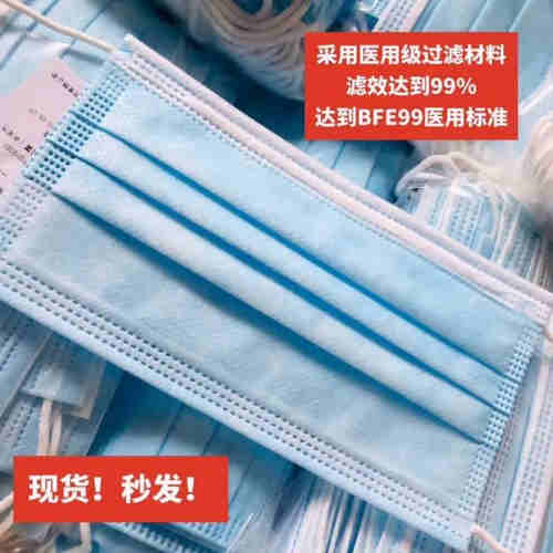Latex-free soft rounded ear-loop straps Disposable medical protective mask