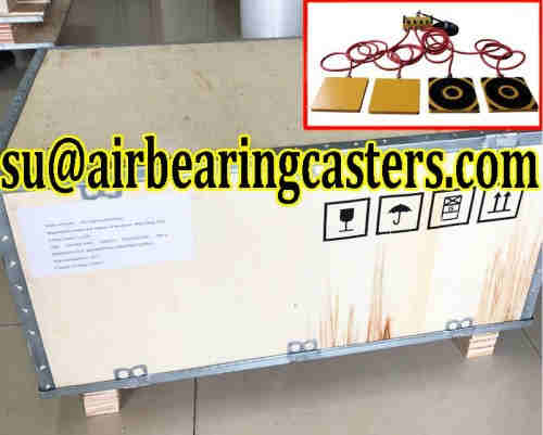 Air casters applied on moving heavy duty equipment