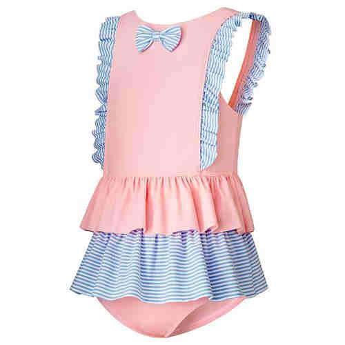 Girls' one piece swim skirt    baby grade fabric swimwear