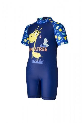 Boys' one piece UV protection swimsuit    sustainable swimwear