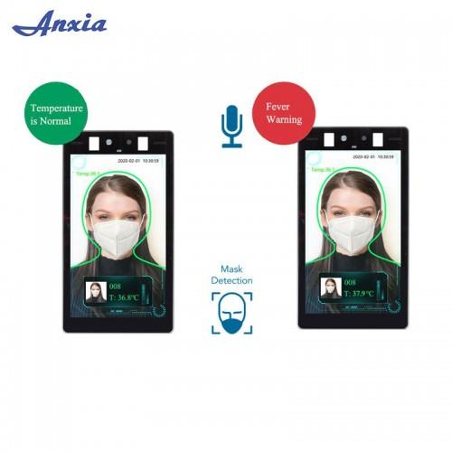 Temperature Measure Detection Medical Grade Sensor Face Recognition access control system