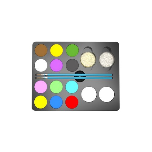 ES-PO-009 12 Customized Color and 2 Brushes 2 Glitter 2 Sponges