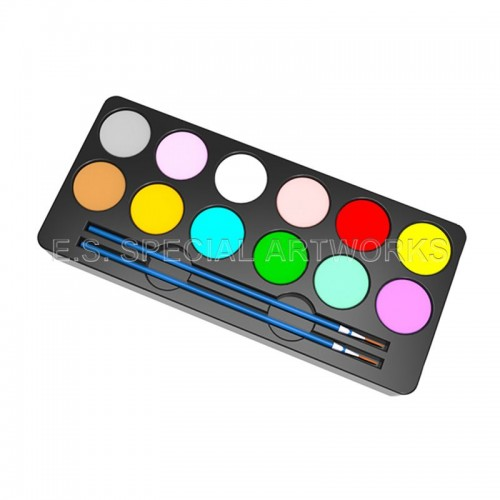 ES-PO-001 12 Customized Color and 2 Brushes