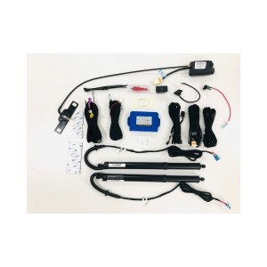 Automotive aftermarket hands free power liftgate power boot kit