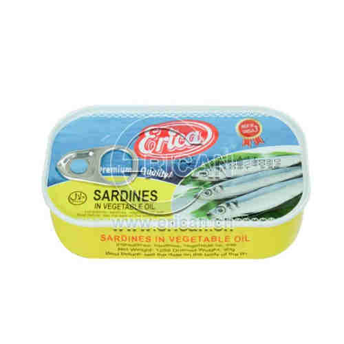 Hot Sale 125g Canned Sardine Fish in Vegetable Oil