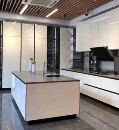 High Gloss Slab Style Kitchen Cabinet