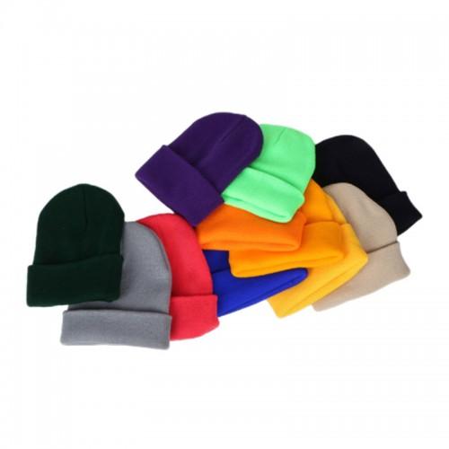 Fashion Wholesale Blank Multi-Color Unisex Knit Beanie Hat Custom Logo