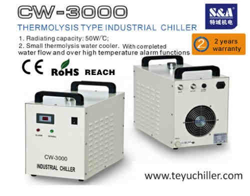 S&A water cooled chiller for lamp uv led of digital printer