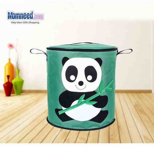 Oxford Cloth Storage Bin Canvas Organizer For Toys Cute Panda
