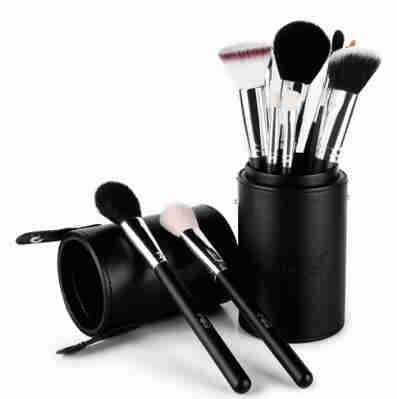 15 Professional Animal Hair Cosmetics Brush Set