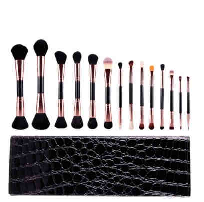 MSQ Rose Gold 14 Piece Double Makeup Brush